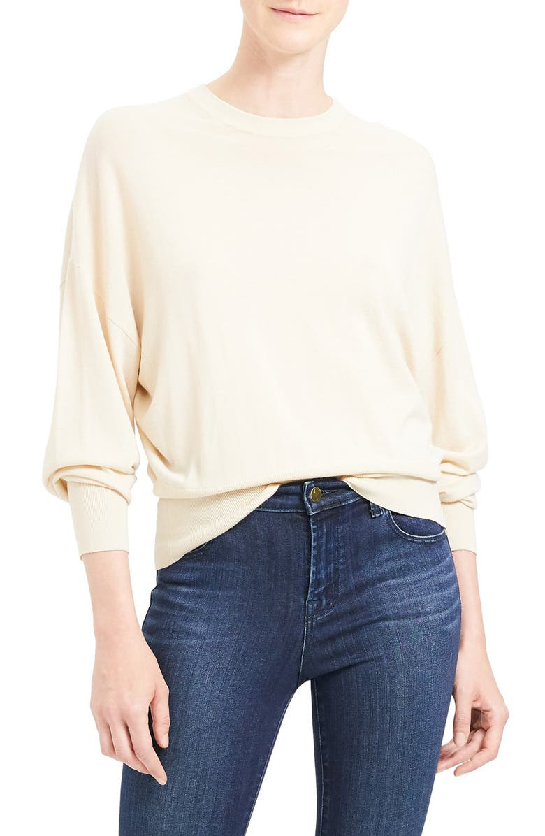 THEORY Blouson Sleeve Wool Blend Pullover, Main, color, 251