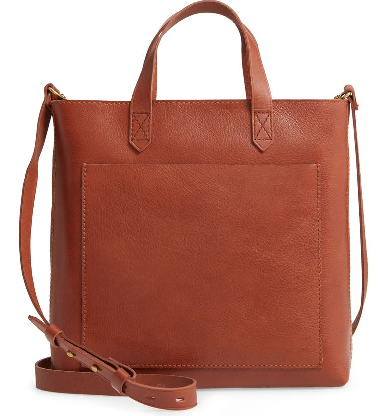 MADEWELL The Small Transport Crossbody Bag, Main, color, ENGLISH SADDLE