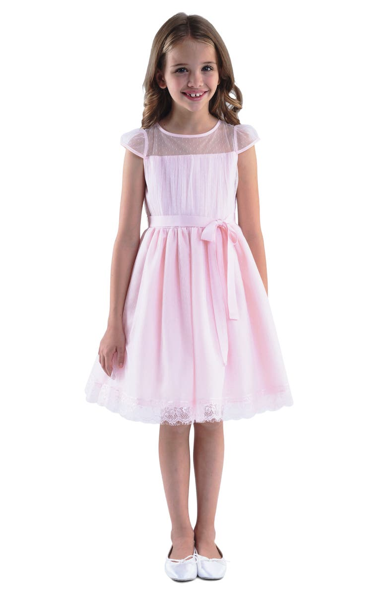 US ANGELS Point d'Esprit Dress, Main, color, BLUSH PINK