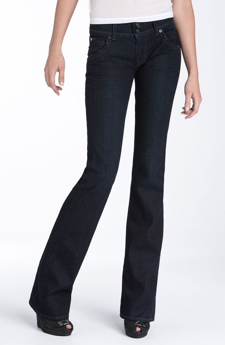 HUDSON JEANS Triangle Pocket Bootcut Stretch Jeans, Main, color, 400