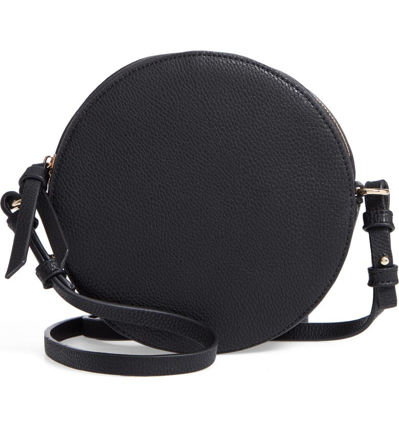 CHELSEA28 Cassie Faux Leather Circle Crossbody Bag, Main, color, 001