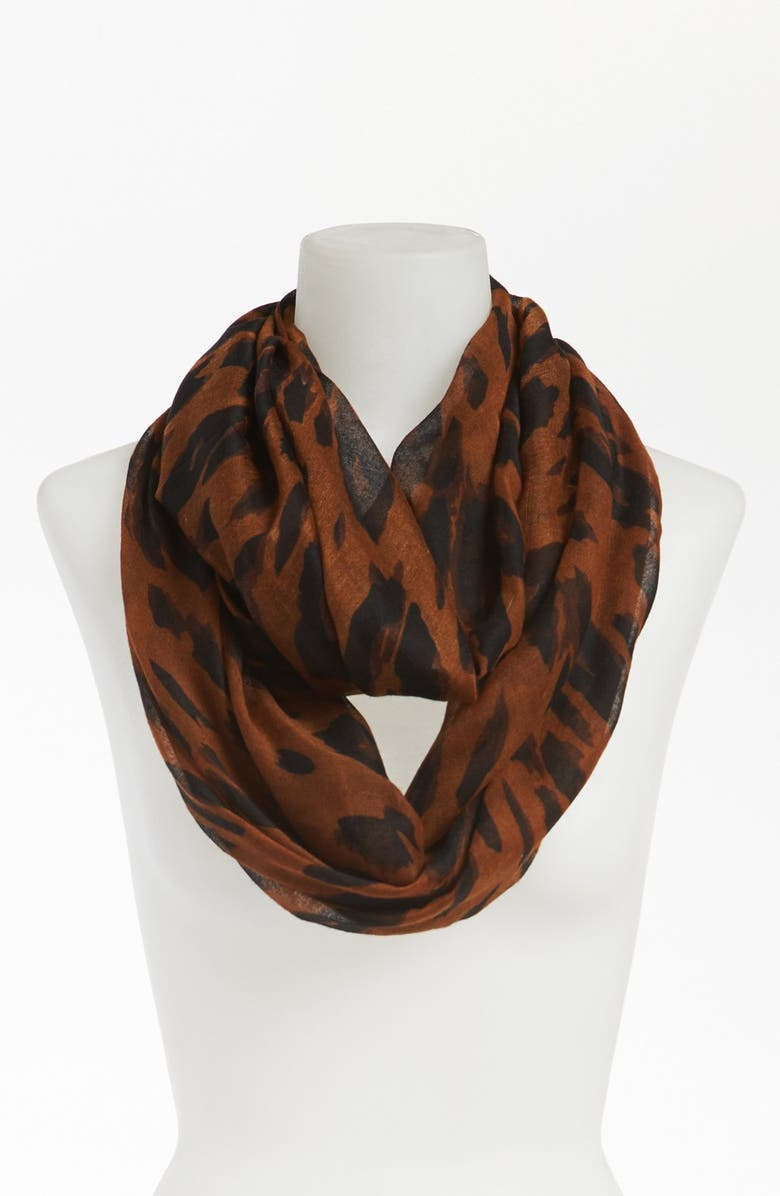 BP. Leopard Print Infinity Scarf, Main, color, 200