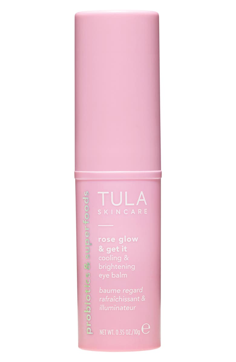 TULA SKINCARE Rose Glow & Get It Cooling & Brightening Eye Balm, Main, color, No Color