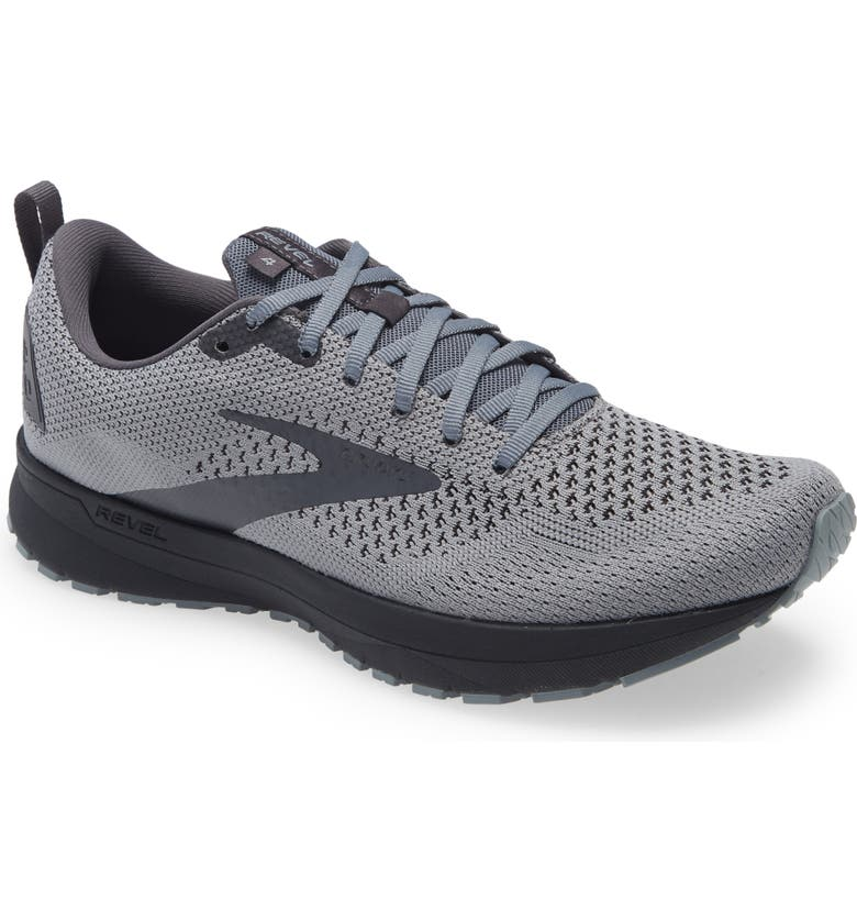 BROOKS Revel 4 Hybrid Running Shoe, Main, color, GREY/ BLACKENED PEARL/ BLACK