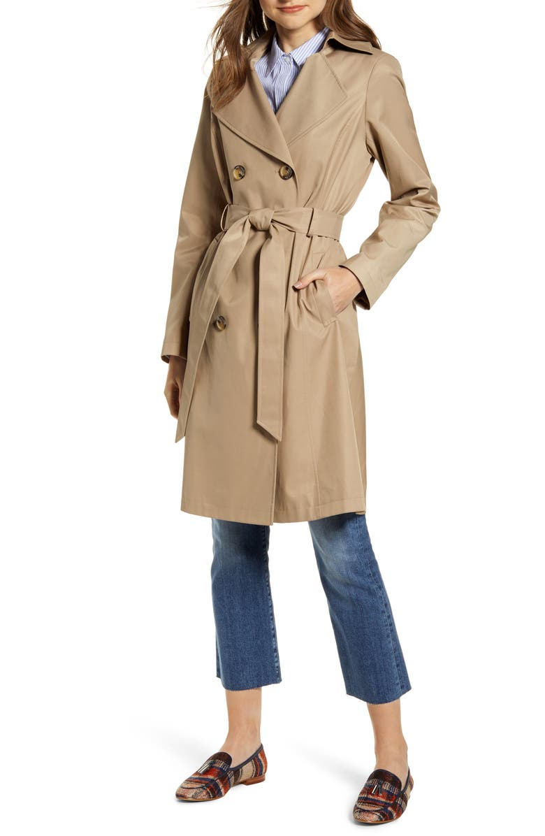SAM EDELMAN Double Breasted Trench Coat, Main, color, 267