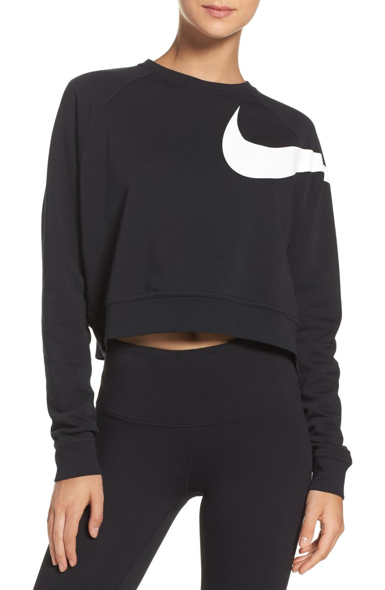 NIKE Dry Versa Training Crop Top, Main, color, 010