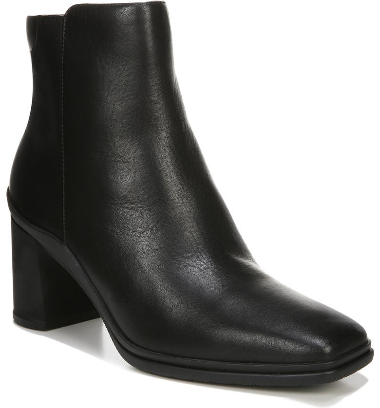NATURALIZER Avery Waterproof Bootie, Main, color, BLACK LEATHER
