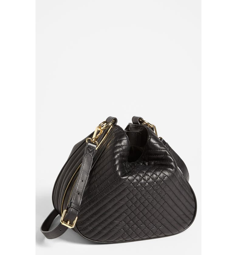 VINCE CAMUTO 'Avery' Quilted Leather Crossbody Bag, Small, Main, color, 001