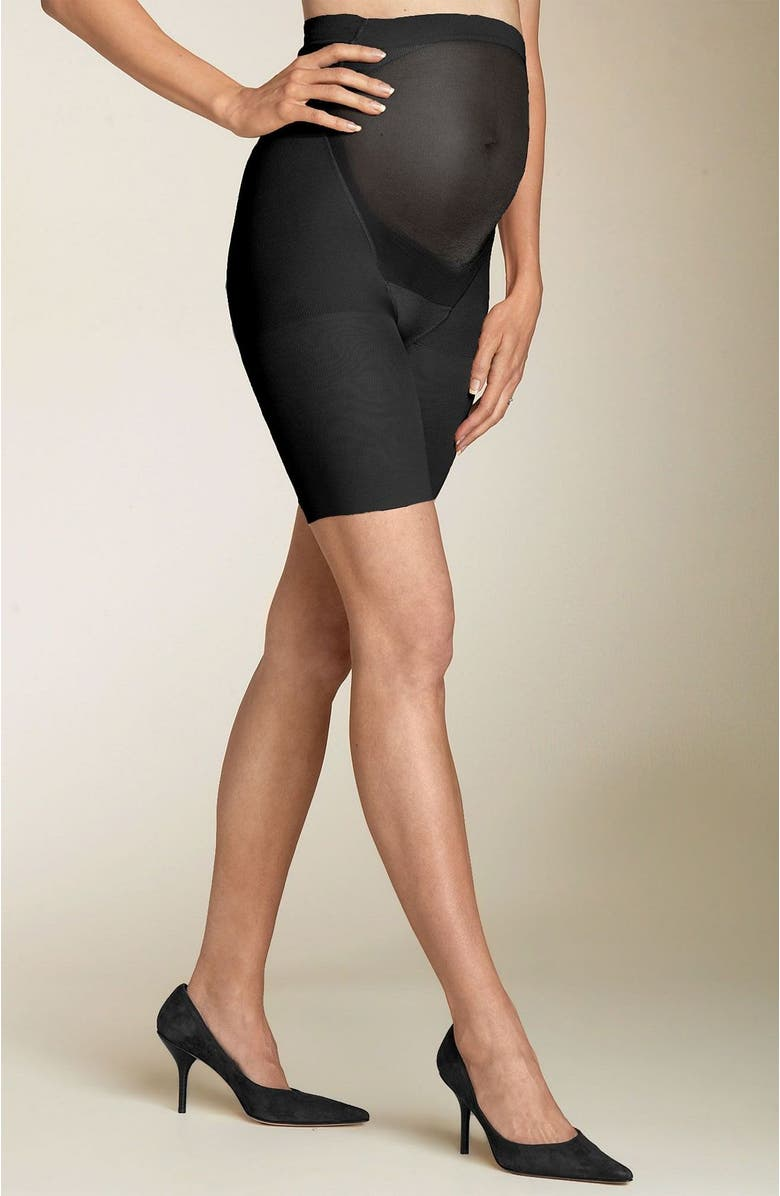 SPANX<SUP>®</SUP> Maternity Mama Shorts, Main, color, BLACK