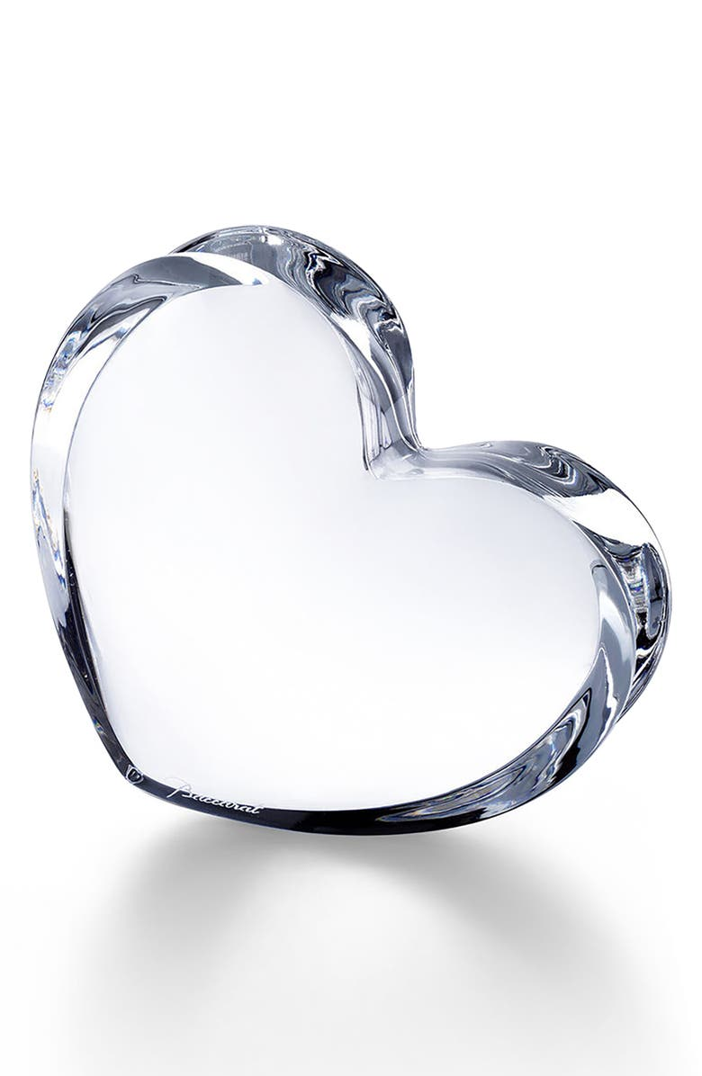 BACCARAT Zinzin Lead Crystal Heart, Main, color, CLEAR