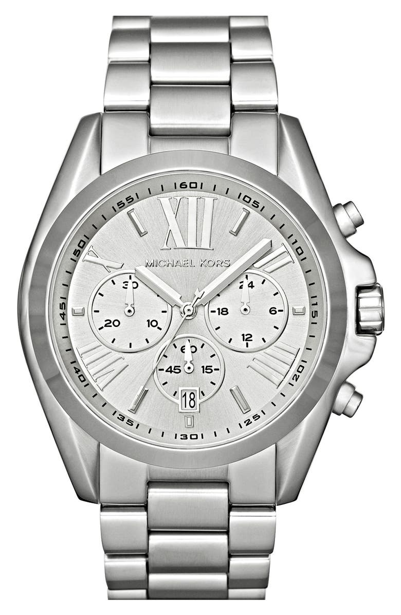 MICHAEL KORS 'Bradshaw' Chronograph Bracelet Watch, 43mm, Main, color, 040