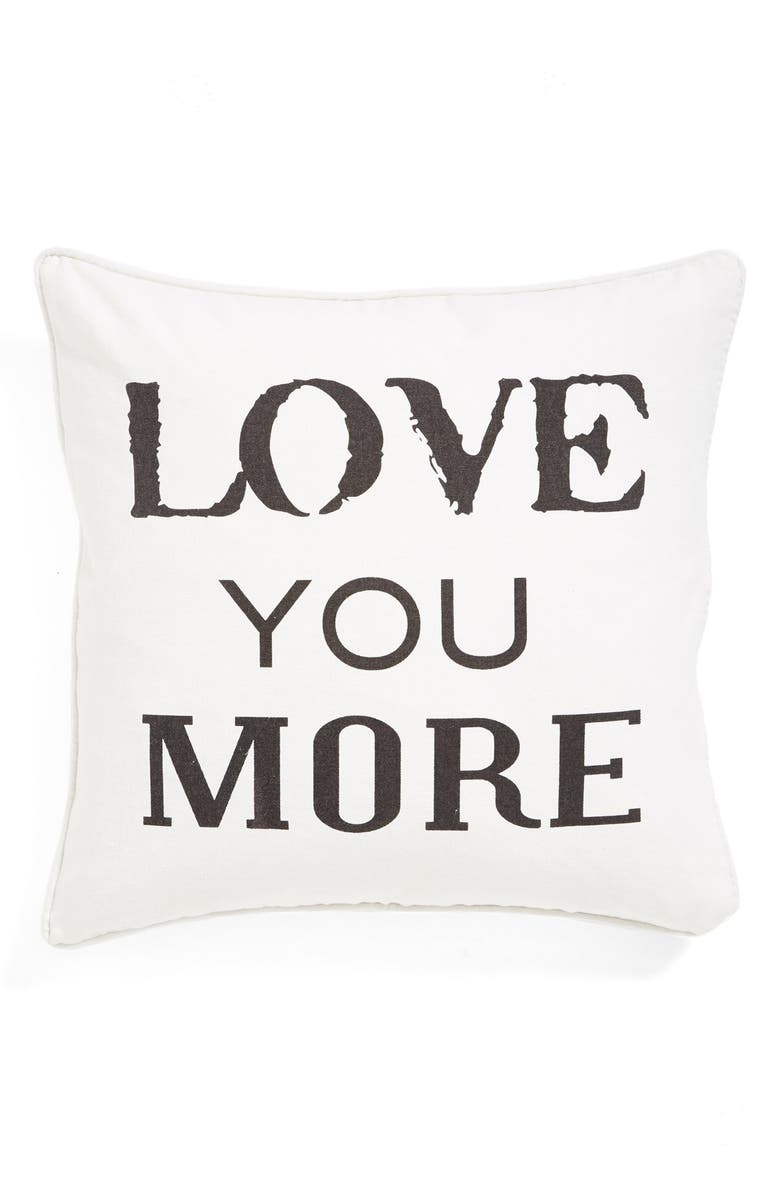 LEVTEX 'Love You More' Square Pillow, Main, color, 250