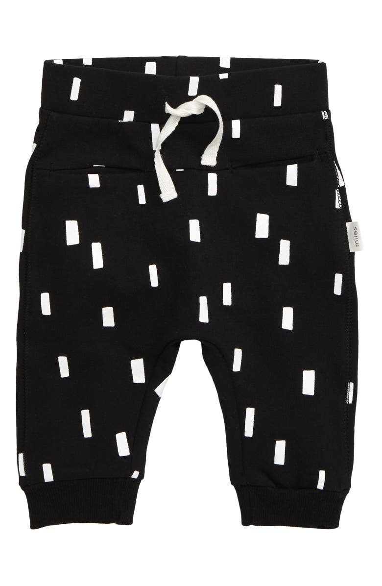 MILES baby Graphic Joggers, Main, color, BLACK