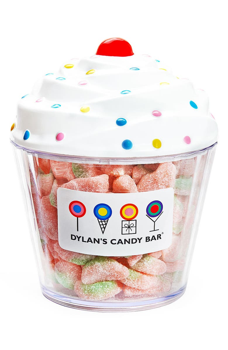 DYLAN'S CANDY BAR Sour Watermelon Slices Cupcake, Main, color, Pink