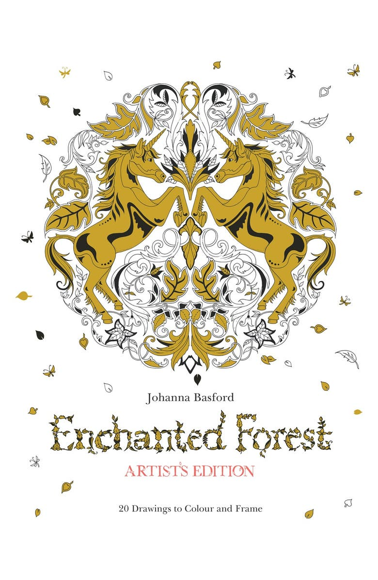 CHRONICLE BOOKS 'Enchanted Forest - Artist's Edition' Coloring Book, Main, color, 100