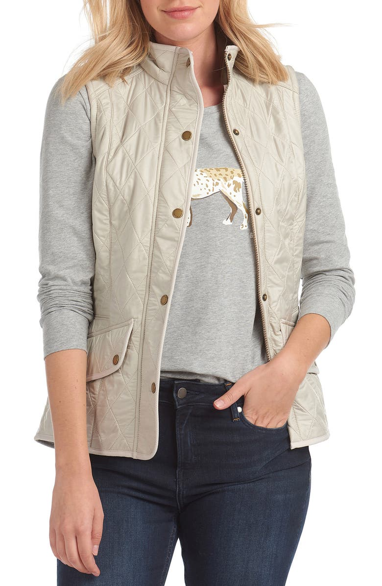 BARBOUR Cavalry Quilted Nylon Vest, Main, color, 909