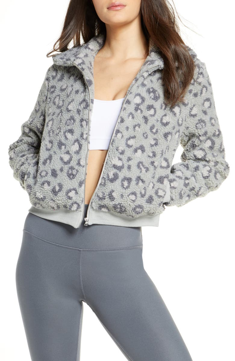 BEYOND YOGA All Time Faux Fur Bomber Jacket, Main, color, 083