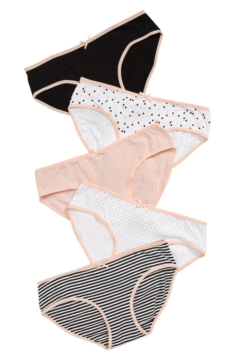 TUCKER + TATE Kids' 5-Pack Hipster Briefs, Main, color, PRETTY POLKA DOT PACK