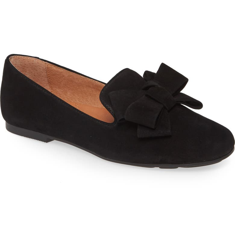 GENTLE SOULS BY KENNETH COLE Eugene Ribbon Genuine Calf Hair Loafer, Main, color, BLACK SUEDE