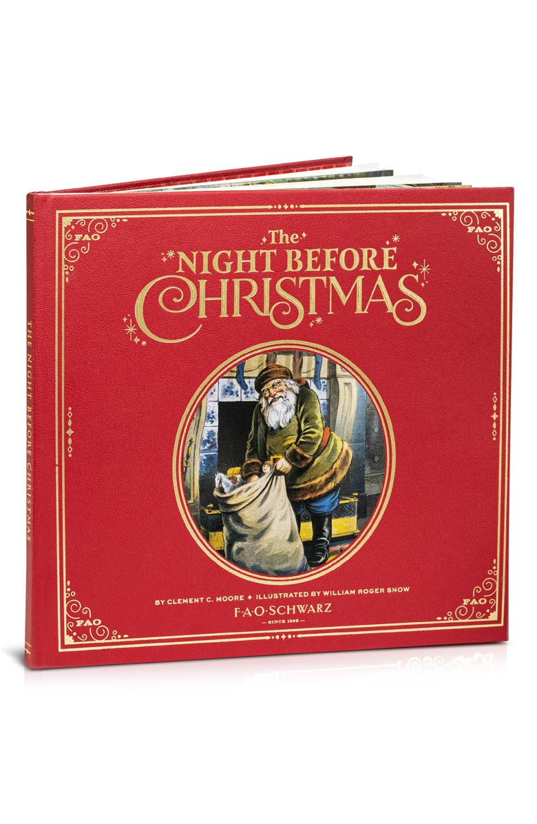 FAO SCHWARZ 'The Night Before Christmas' Book, Main, color, RED