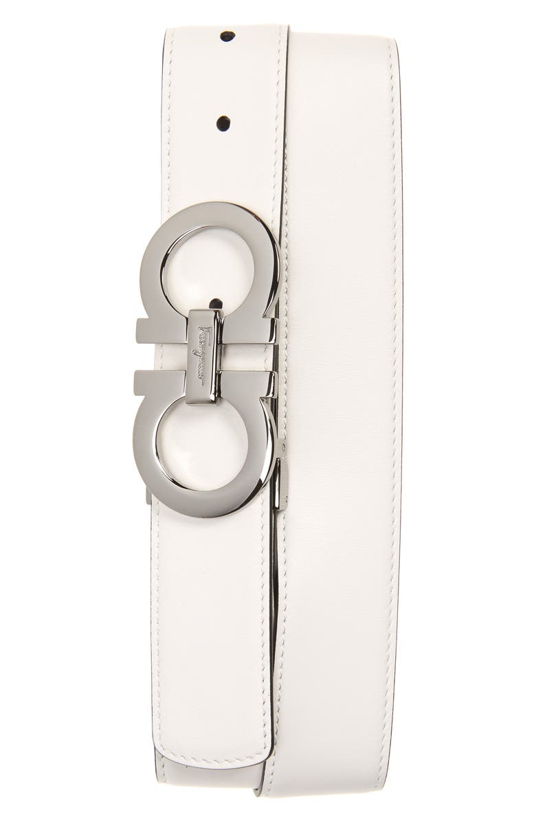 SALVATORE FERRAGAMO Calfino Reversible Leather Belt, Main, color, 284