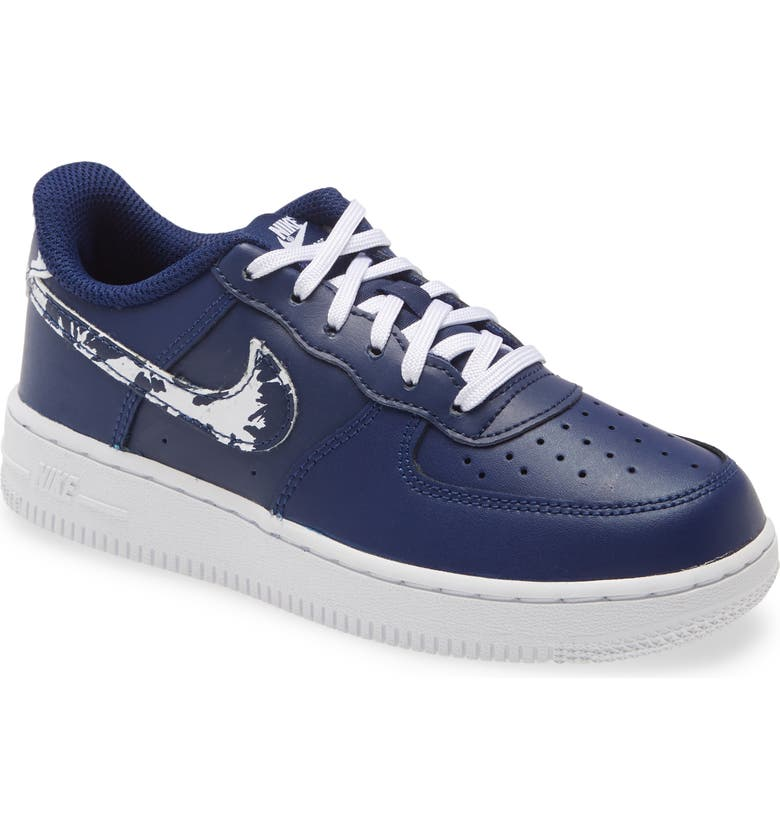 NIKE Kids' Force 1 LV8 3 Sneaker, Main, color, BLUE VOID/ WHITE