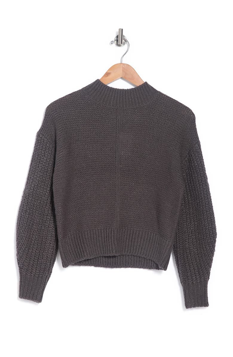 ELODIE Mock Neck Pullover Sweater, Main, color, FORGED IRON