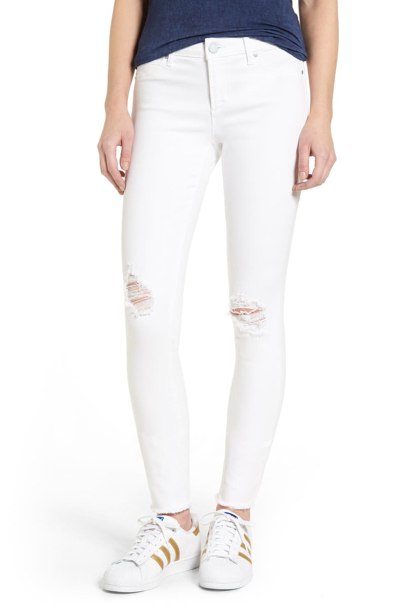 ARTICLES OF SOCIETY Sarah Distressed Skinny Jeans, Main, color, 454