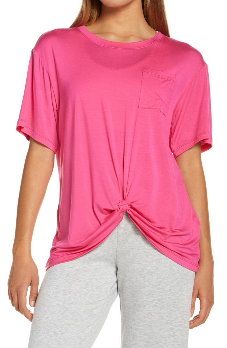 ZELLA Peaceful Knot T-Shirt, Main, color, PINK ROUGE