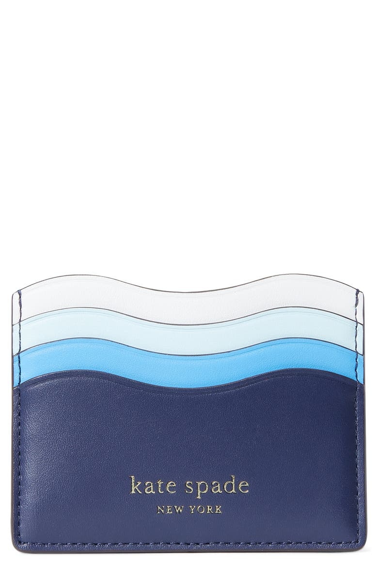 KATE SPADE NEW YORK puffy wave card holder, Main, color, 467