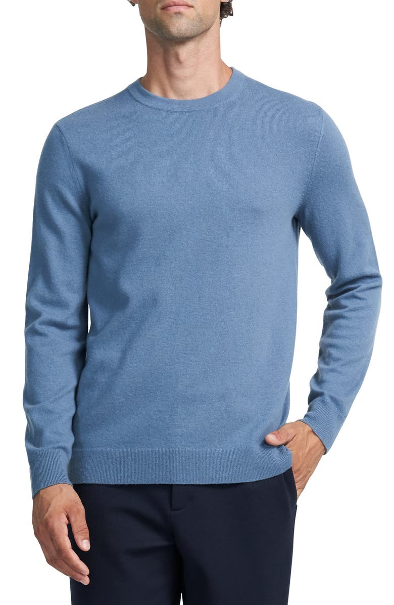 THEORY Hilles Cashmere Sweater, Main, color, DARK HARBOR