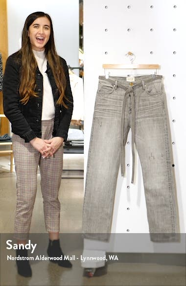 Tie Waist Relaxed Fit Jeans, sales video thumbnail