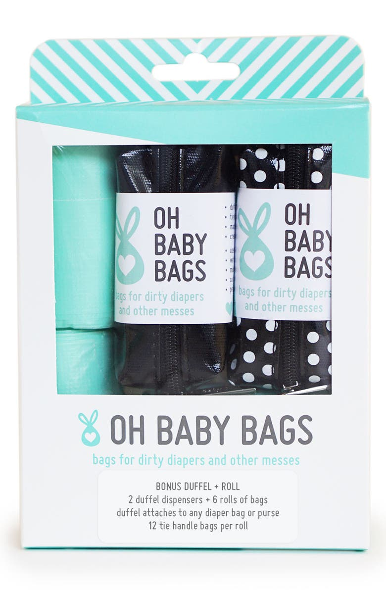 OH BABY BAGS Portable Clip-On Dispenser & Bag Set, Main, color, 001