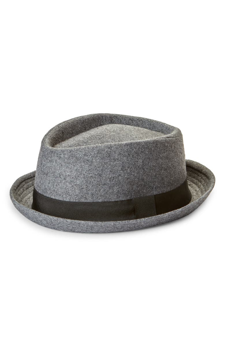 NORDSTROM Felted Fedora, Main, color, GREY COMBO