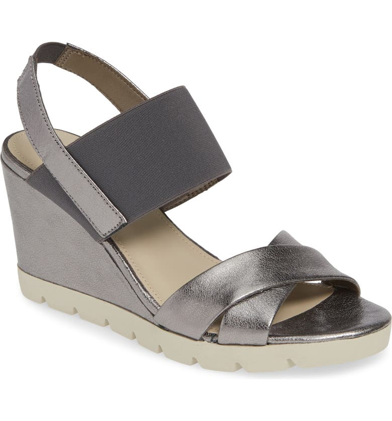 THE FLEXX Get Over It Wedge Sandal, Main, color, CANNA DI FUCILE LEATHER