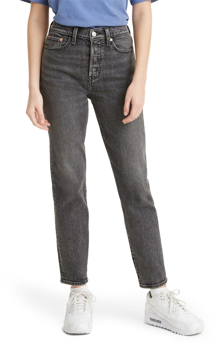 LEVI'S<SUP>®</SUP> Wedgie Icon Fit High Waist Ankle Straight Leg Jeans, Main, color, BETTER WEATHERED