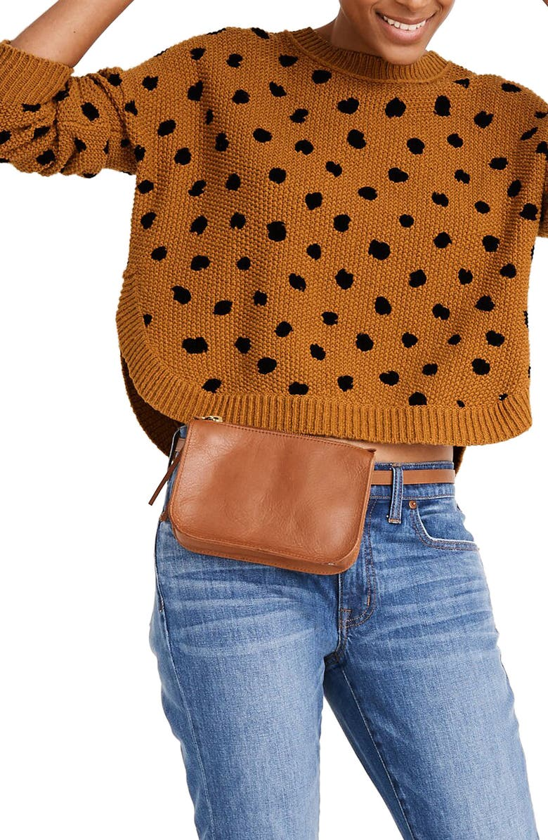 MADEWELL Painted Spots Pullover Sweater, Main, color, EGYPTIAN GOLD