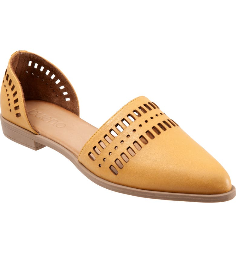 BUENO Beth d'Orsay Flat, Main, color, MUSTARD LEATHER