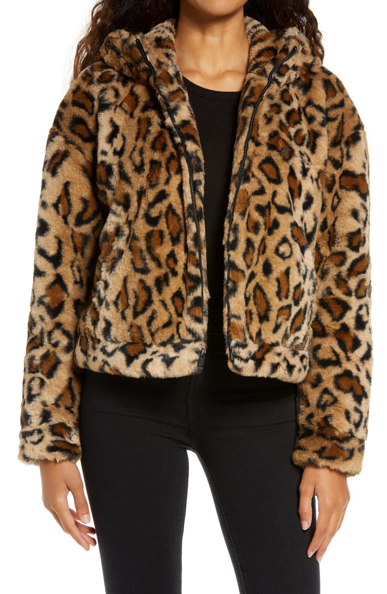 UGG<SUP>®</SUP> Mandy Faux Fur Hooded Jacket, Main, color, 216
