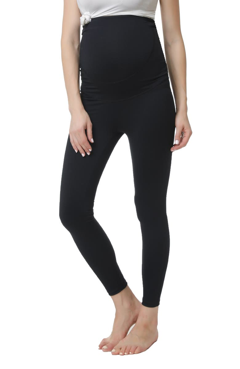 KIMI AND KAI Rae Belly Support Maternity Leggings, Main, color, Black