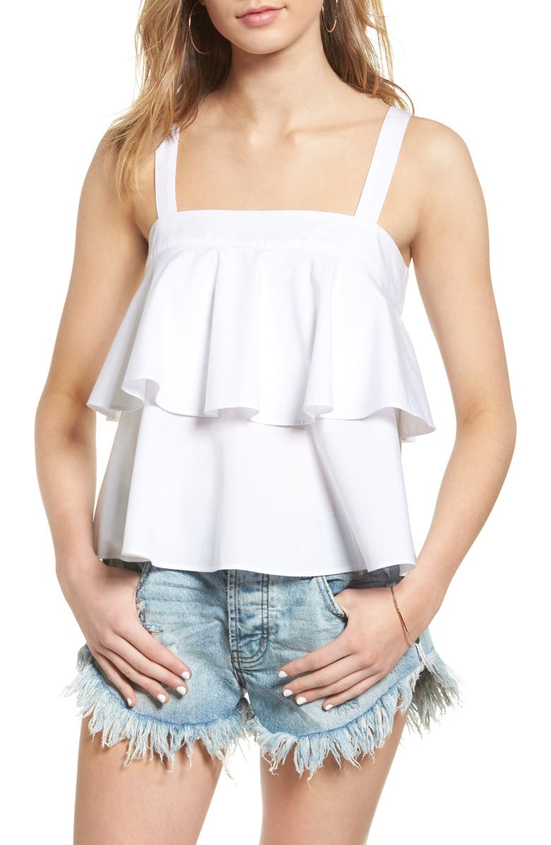 BP. Tiered Cotton Tank, Main, color, 100