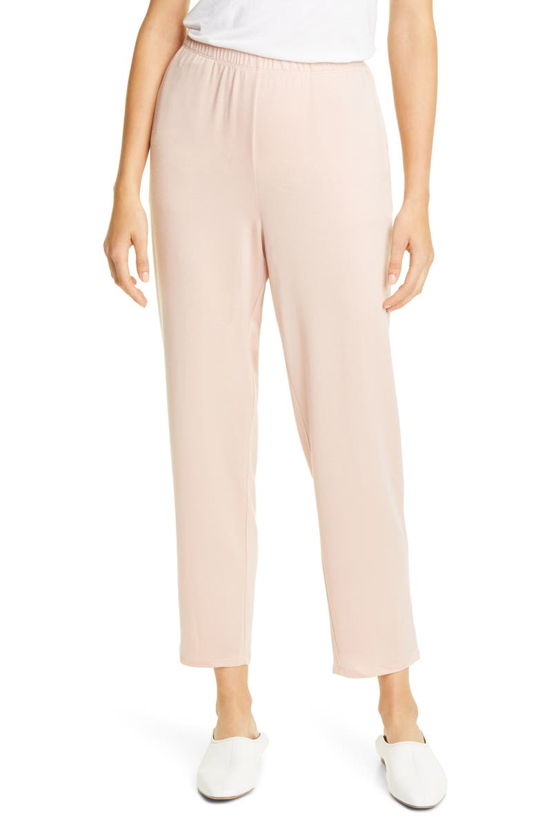 EILEEN FISHER Slouchy Cropped Pants, Main, color, BLUSH