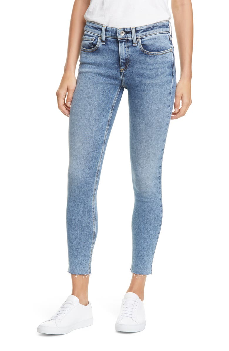 RAG & BONE Cate Raw Hem Ankle Skinny Jeans, Main, color, 400