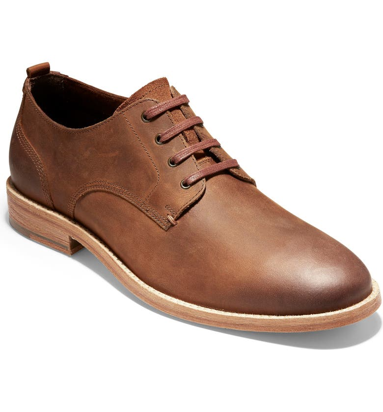 COLE HAAN Feathercraft Grand Derby, Main, color, BRITISH TAN LEATHER