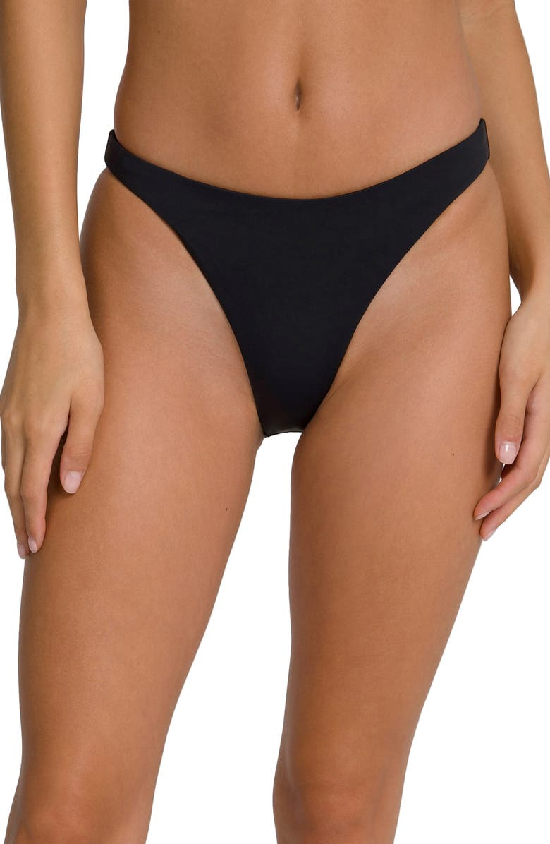 GOOD AMERICAN Better Bikini Bottoms, Main, color, BLACK001
