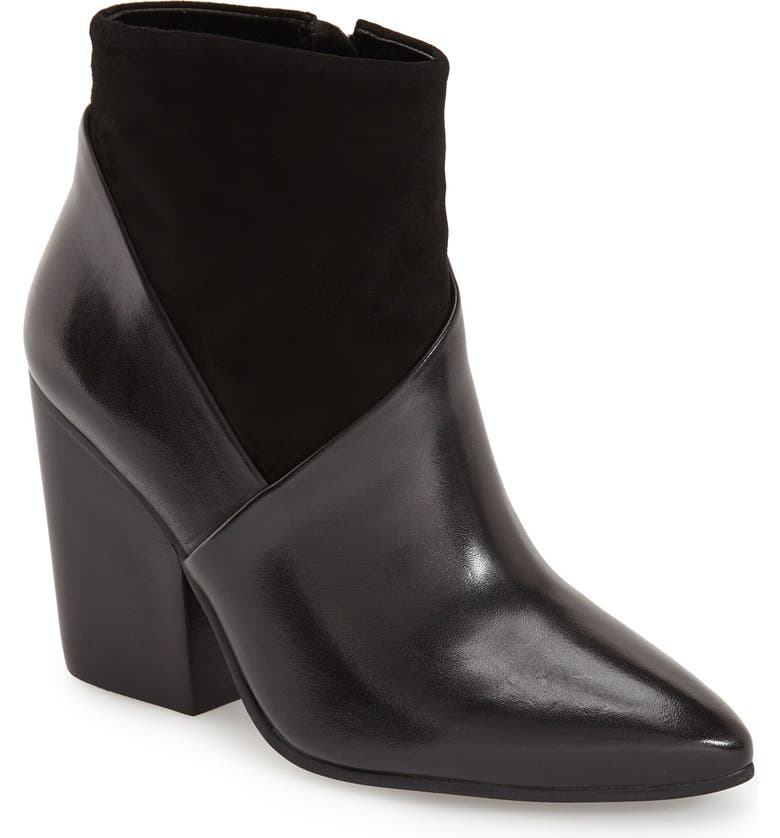 VINCE CAMUTO 'Raylan' Bootie, Main, color, BLACK LEATHER/ SUEDE