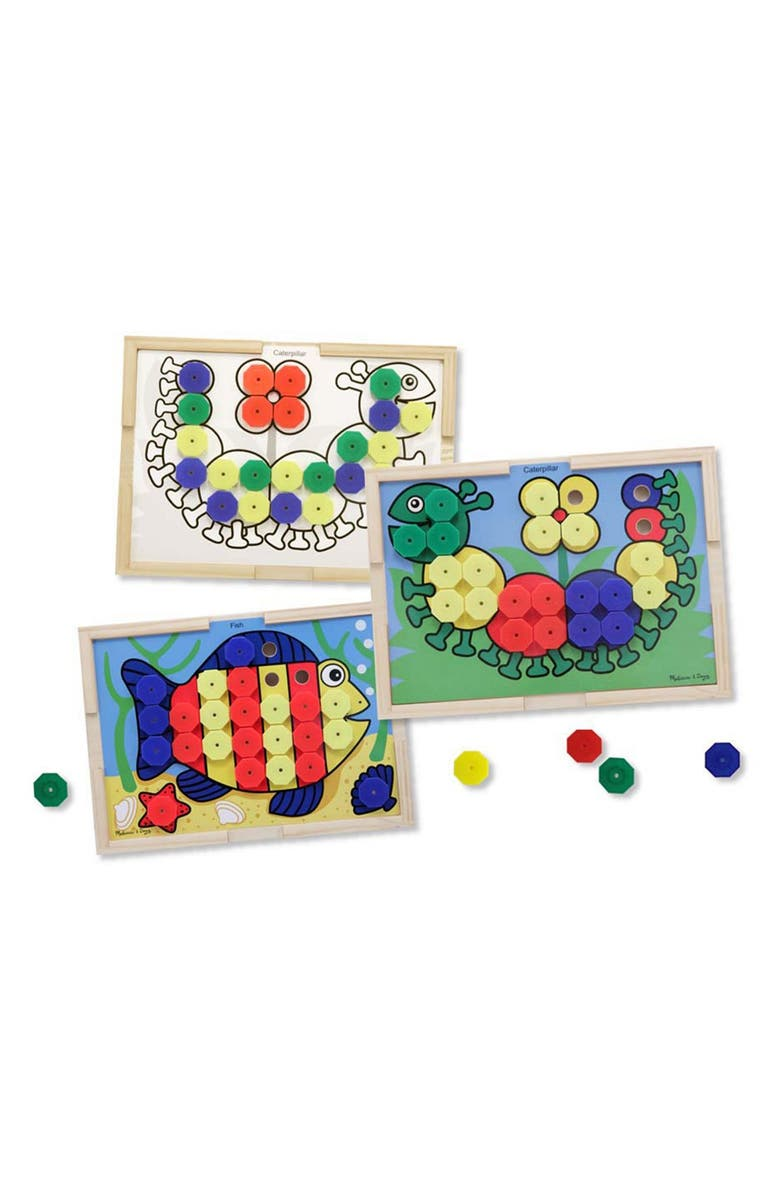 MELISSA & DOUG Sort & Snap Color Match Activity Board, Main, color, 200