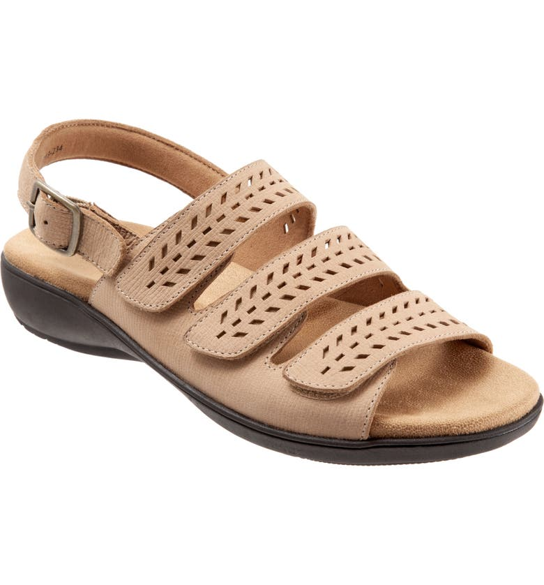 TROTTERS Trinity Sandal, Main, color, SAND LEATHER
