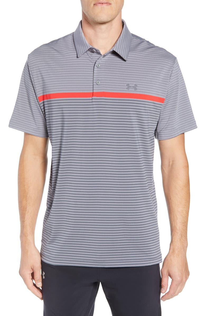 UNDER ARMOUR 'Playoff' Loose Fit Short Sleeve Polo, Main, color, 020