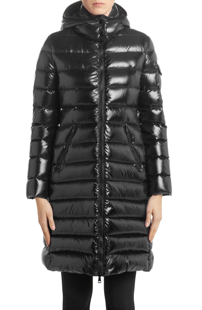 MONCLER Moka Hooded Down Quilted Parka, Main, color, BLACK